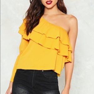 Nasty Gal one shoulder blouse